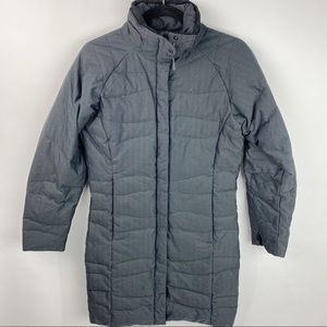 Columbia Titanium long puffer grey jacket